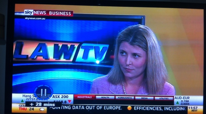 Great Interview on Law TV on Sky with Alexandra Rose
