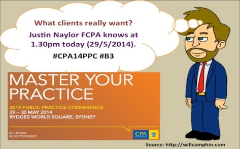 Join me while Justin Naylor FCPA makes sense of what Clients really want.